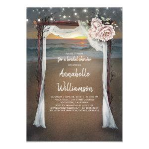Beach Arch | Sea Sunset Bridal Shower Invitation starting at 2.50