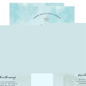 Beach Colors Couples stock the bar wedding shower Invitation starting at 2.51