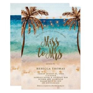 beach Miss to Mrs bridal shower invitation starting at 2.56
