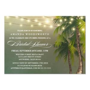Beach Palm Tree Tropical Bridal Shower Invitations starting at 2.25