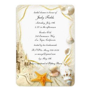 Beach Sand Castle Wedding Bridal Shower Card starting at 2.75