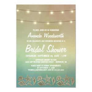Beach Starfish Seashell Bridal Shower Invitations starting at 2.25