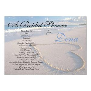 Beach Theme Bridal Shower Invitation starting at 2.40