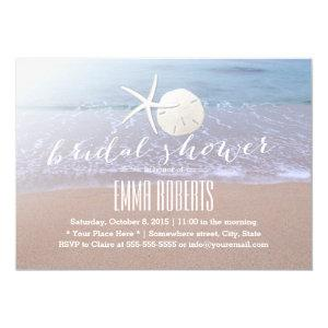 Beach Theme Starfish & Sand Dollar Bridal Shower Invitation starting at 2.45