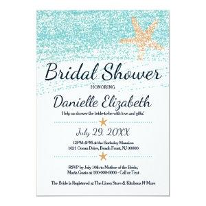 Beach Themed Starfish Bridal Shower Invitation starting at 2.51