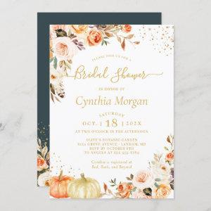 Beautiful Autumn Gold Floral Fall Bridal Shower starting at 2.30