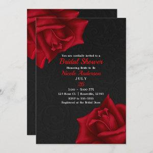 Beautiful Black Texture Red Roses Bridal Shower starting at 2.66