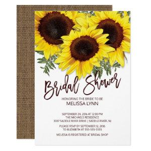 Beautiful Fall Sunflowers Bridal Shower Invite starting at 2.15