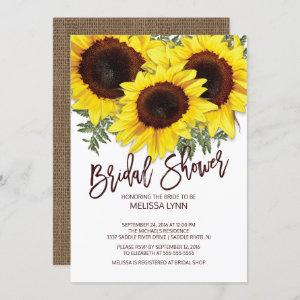Beautiful Fall Sunflowers Bridal Shower Invite starting at 2.40