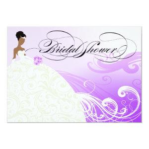 Beautiful Purple and White Luxe Bridal Shower Invitation starting at 3.24