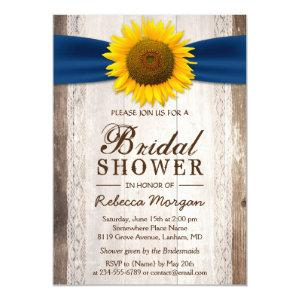 Beautiful Rustic Sunflower Ribbon Bridal Shower Invitation starting at 2.30