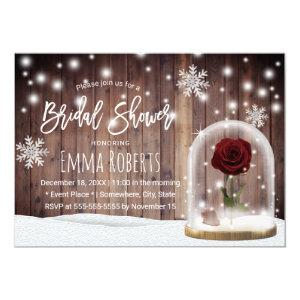 Beauty Rose Dome Rustic Winter Bridal Shower Invitation starting at 2.40