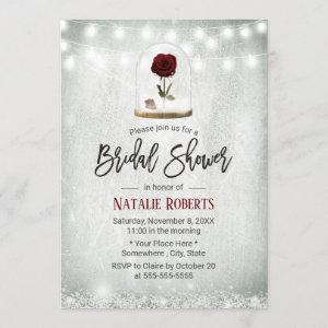 Beauty Rose Dome Winter Floral Bridal Shower Invitation starting at 2.40