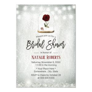 Beauty Rose Dome Winter Floral Bridal Shower Invitation starting at 2.45
