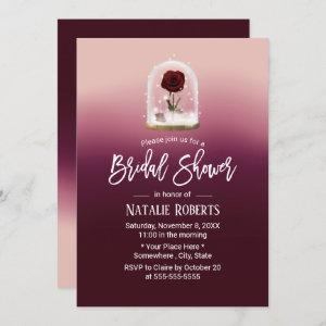 Beauty Rose Flower Dome Fairy Tale Bridal Shower Invitation starting at 2.40