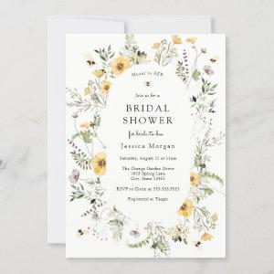 Bee and Delicate Wildflower Bridal Shower Invitation starting at 2.45