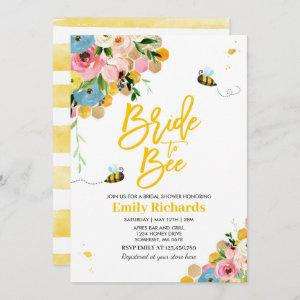 Bee Bridal Shower Invitation Floral Bride To Bee starting at 2.61