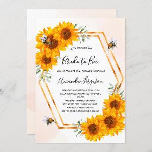 Bee Bridal shower sunflowers bumble bees  Invitation starting at 2.40