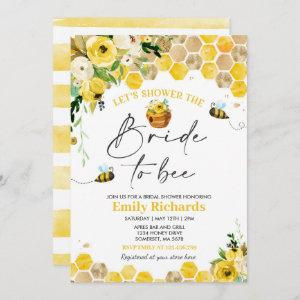 Bee Bridal Shower Yellow Floral Bride To Bee Invitation starting at 2.61