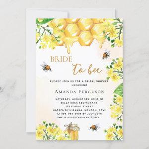 Bee Bridal shower yellow florals bride to bee  Invitation starting at 2.40