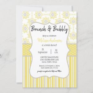 Bee Yellow and Grey Geometric Bridal Brunch starting at 2.20