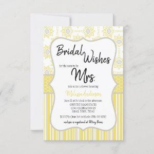 Bee Yellow and Grey Geometric Bridal Shower starting at 2.15