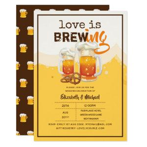BEER - Love is Brewing Wedding or Bridal Shower Invitation starting at 2.40