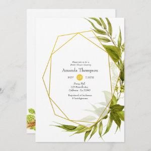 Beer Willow Green and Gold Geometric Bridal Shower starting at 2.51