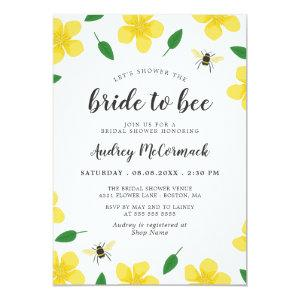 Bees & Buttercups Shower the Bride to Bee Invitation starting at 2.51