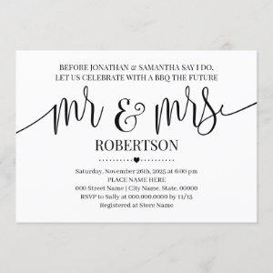 Before I do Mr and Mrs Wedding shower minimalist Invitation starting at 2.55