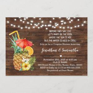 Before I do party by the pool tropical wedding Invitation starting at 2.55