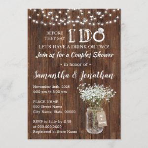 Before I do wedding couples shower country Invitation starting at 2.55