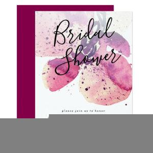 Berry Watercolor Orchid Bridal Shower Invitation starting at 2.51