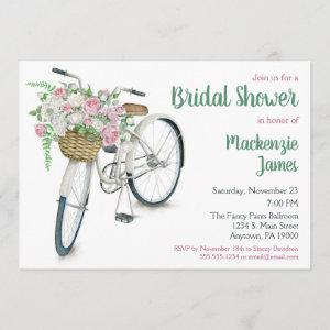 Bicycle Floral Bridal Shower Invitation starting at 2.66