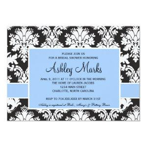 Black and Blue Damask Invitation starting at 2.56