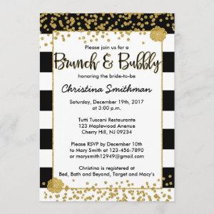 Black and Gold Brunch and Bubbly Invitations starting at 2.51