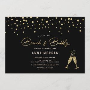 Black and Gold Brunch & Bubbly Invitation starting at 2.40
