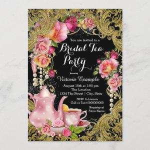 Black and Gold Glitter Rose Tea Party starting at 2.55