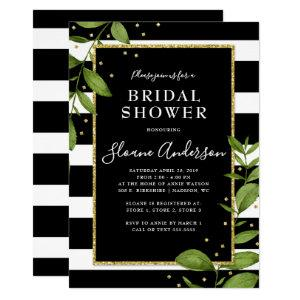 Black and White Botanical Bling Bridal Shower Invitation starting at 2.40