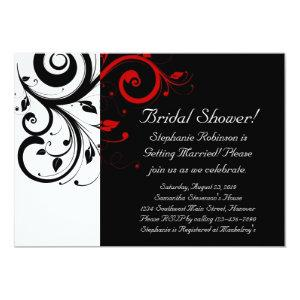 Black and White with Red Reverse Swirl Invitation starting at 2.98
