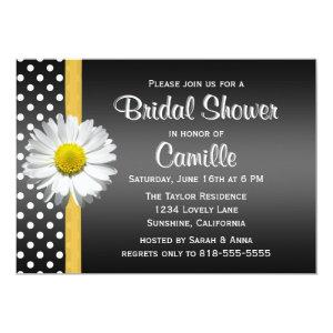 Black and Yellow Daisy Bridal Shower Invitation starting at 2.51