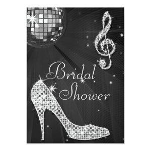 Black Disco Ball & Sparkle Heels Bridal Shower Invitation starting at 2.77