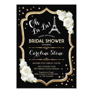 Black Gold French Style Bridal Shower Invitation starting at 2.35