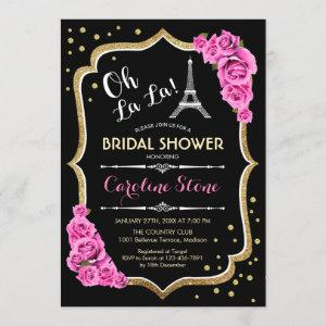 Black Pink French Style Bridal Shower Invitation starting at 2.35