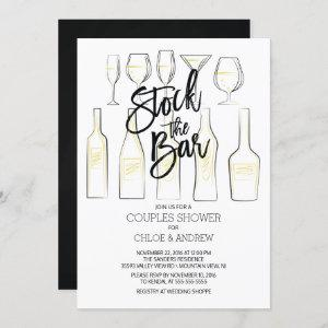 Black White Stock the Bar Couples Shower Invite starting at 2.40