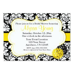 Black Yellow Damask Invitation starting at 2.61