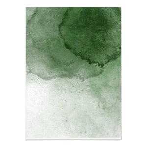 Blank Forest Green Watercolor Wedding Invitation starting at 2.25