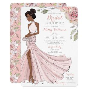 Blingy African American Bride Bridal Shower Invitation starting at 2.60