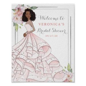 Blingy Glamour Bride Bridal Shower Welcome Sign starting at 8.55