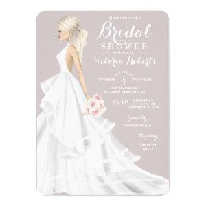 Blonde Bride Wedding Gown Bridal Shower Invitation starting at 2.60